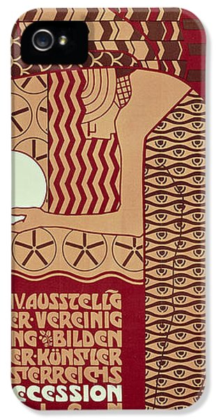 Poster For The 14th Exhibition Of Vienna Secession, 1902 IPhone 5 Case by Alfred Roller