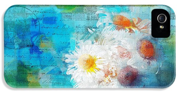 Pot Of Daisies 02 - J3327100-bl1t22a IPhone 5 Case