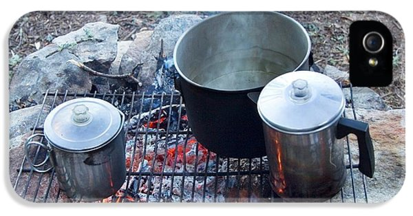 Pots On A Camp Fire IPhone 5 Case by Jim West