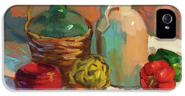 Pottery And Vegetables IPhone 5 Case by Diane McClary
