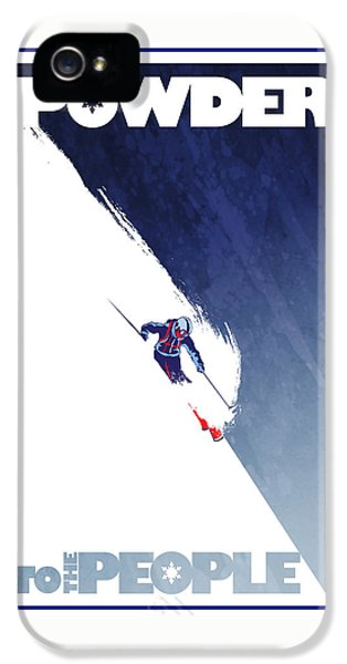 Sports iPhone 5 Case - Powder To The People by Sassan Filsoof