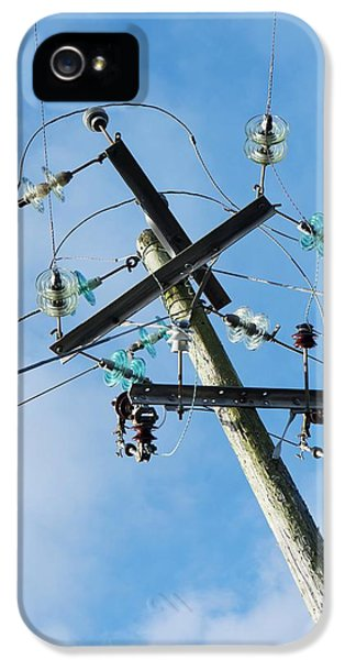 Power Lines With Glass Insulators IPhone 5 Case