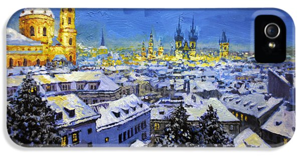 Prague After Snow Fall IPhone 5 Case by Yuriy Shevchuk