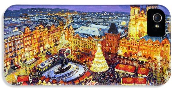 Prague Old Town Square Christmas Market 2014 IPhone 5 Case by Yuriy Shevchuk