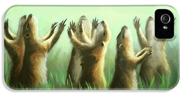 Praising Prairie Dogs IPhone 5 / 5s Case by Anthony Falbo