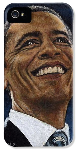 President Barack Obama IPhone 5 Case by Neil Feigeles