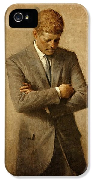 President John F. Kennedy Official Portrait By Aaron Shikler IPhone 5 Case by Movie Poster Prints