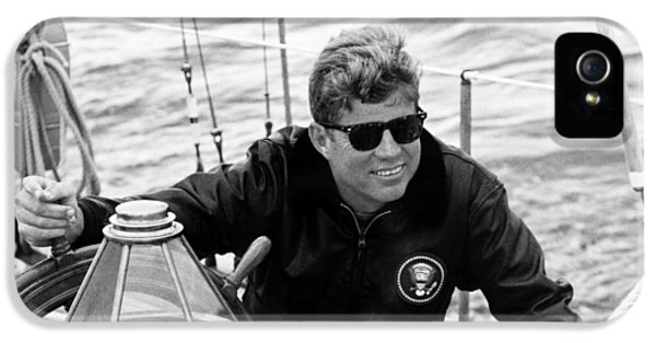President John Kennedy Sailing IPhone 5 Case by War Is Hell Store