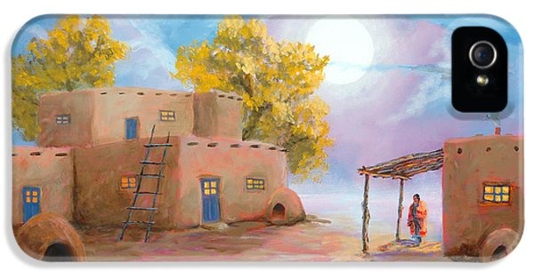 Pueblo De Las Lunas IPhone 5 Case by Jerry McElroy