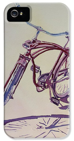 Bicycle iPhone 5 Case - Pure Nostalgia  by Jenny Armitage