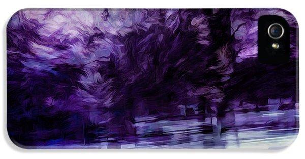 Purple Fire IPhone 5 Case