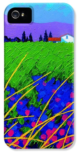 Purple Hills IPhone 5 Case by John  Nolan