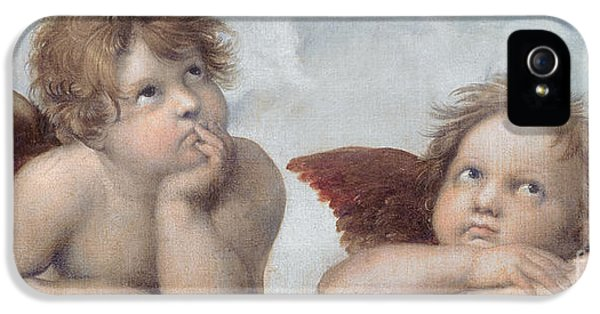 Putti Detail From The Sistine Madonna IPhone 5 Case by Raphael