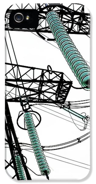 Pylon With Glass Insulator Strings IPhone 5 Case
