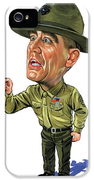 R. Lee Ermey As Gunnery Sergeant Hartman IPhone 5 Case by Art