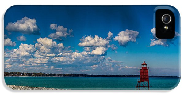 Racine Harbor Lighthouse IPhone 5 Case by Randy Scherkenbach