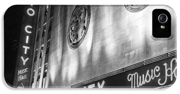 Radio City Music Hall Marquee IPhone 5 Case by Underwood Archives