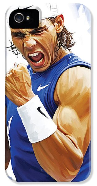 Rafael Nadal Artwork IPhone 5 / 5s Case by Sheraz A