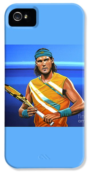 Rafael Nadal IPhone 5 / 5s Case by Paul Meijering