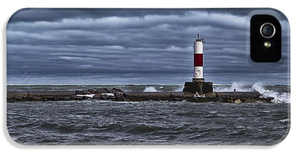 IPhone 5 Case featuring the photograph Raging Lake Michigan  by Ricky L Jones