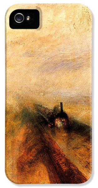 Train iPhone 5 Case - Rain Steam And Speed.  by J M W Turner