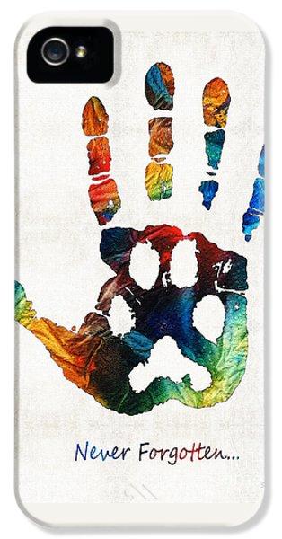 Rainbow Bridge Art - Never Forgotten - By Sharon Cummings IPhone 5 / 5s Case by Sharon Cummings