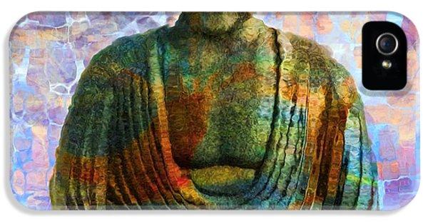 Breathe iPhone 5 Case - Rainbow Buddha by Dan Sproul