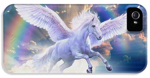 Pegasus iPhone 5 Case - Rainbow Pegasus by Jan Patrik Krasny