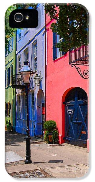Rainbow Row Charleston IPhone 5 Case by Skip Willits