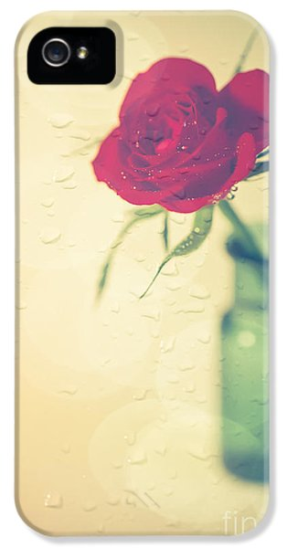 Raindrops On Roses . . . IPhone 5 Case by Jan Bickerton