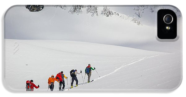 Rainier Snowshoers IPhone 5 Case by Inge Johnsson