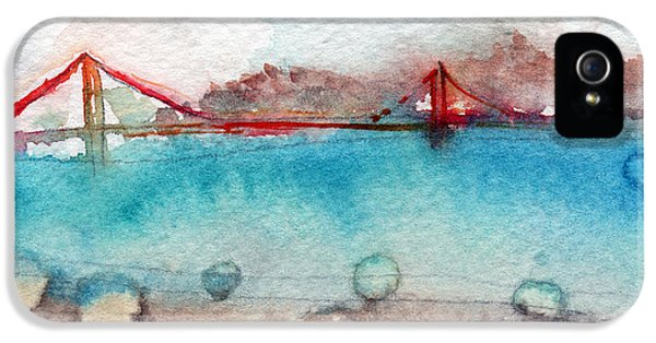 Rainy Day In San Francisco  IPhone 5 Case by Linda Woods