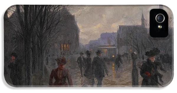 Rainy Evening On Hennepin Avenue IPhone 5 Case