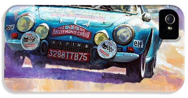 Rally Monte Carlo 1972 Alpine-renault A110 1600  IPhone 5 Case