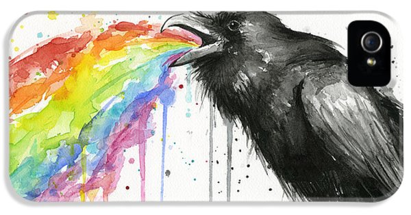 Raven Tastes The Rainbow IPhone 5 Case by Olga Shvartsur