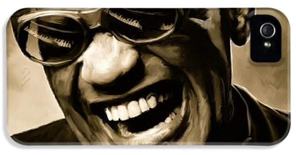 Rhythm And Blues iPhone 5 Case - Ray Charles - Portrait by Paul Tagliamonte
