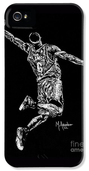 Reaching For Greatness #6 IPhone 5 Case by Maria Arango