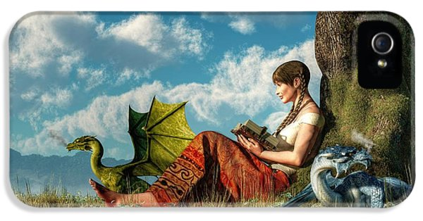 Dungeon iPhone 5 Case - Reading About Dragons by Daniel Eskridge