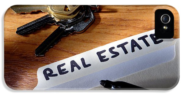 Real Estate File Folder With Marker And House Keys IPhone 5 Case by Olivier Le Queinec