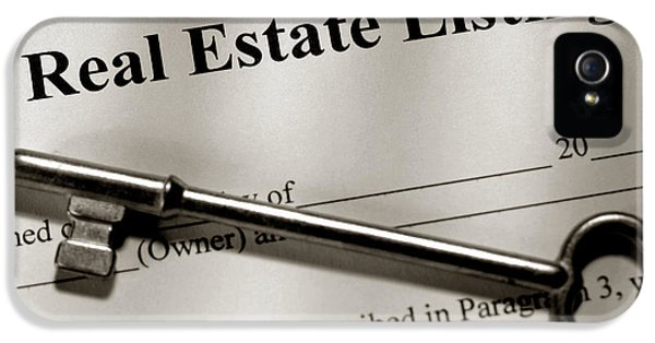 Real Estate Listing Contract And Old House Key IPhone 5 Case by Olivier Le Queinec