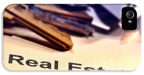 Real Estate Title Word On A Realtor Contract Page IPhone 5 Case by Olivier Le Queinec