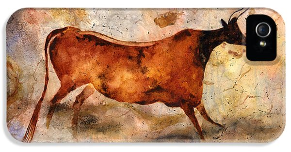 Red Cow IPhone 5 Case by Hailey E Herrera