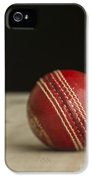 Cricket iPhone 5 Case - Red Cricket Ball by Edward Fielding