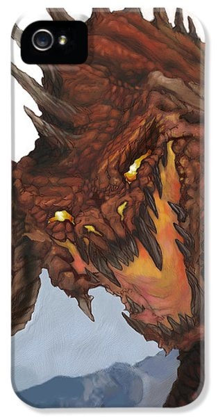 Dungeon iPhone 5 Case - Red Dragon by Matt Kedzierski