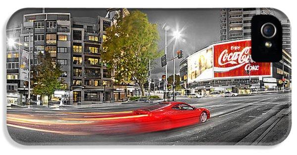 Red Lights Sydney Nights IPhone 5 Case by Az Jackson