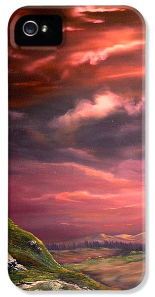 Red Sky At Night IPhone 5 Case by Jean Walker