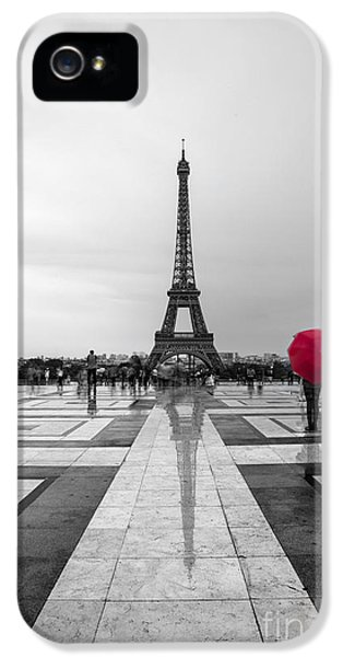 Paris iPhone 5 Case - Red Umbrella by Timothy Johnson