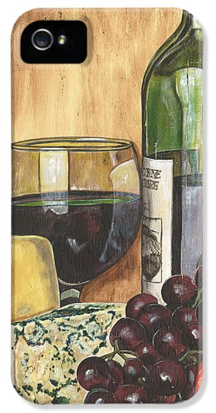 Tomato iPhone 5 Case - Red Wine And Cheese by Debbie DeWitt