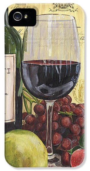 Red Wine And Pear IPhone 5 Case by Debbie DeWitt