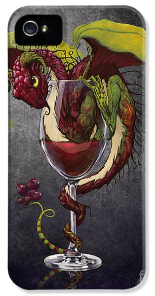 Red Wine Dragon IPhone 5 Case by Stanley Morrison